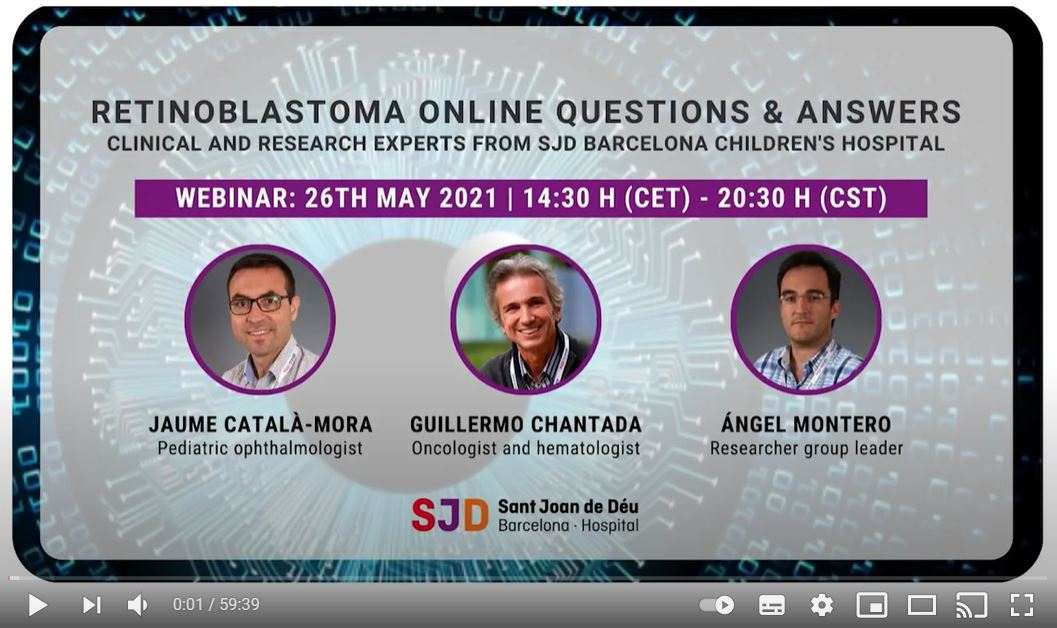 Retinoblastoma online Questions & Answers – Clinical and research experts from SJD Barcelona Children's Hospital