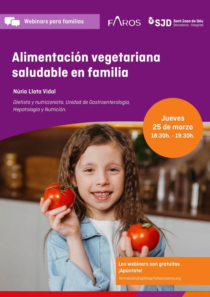 Alimentación vegetariana saludable en familia